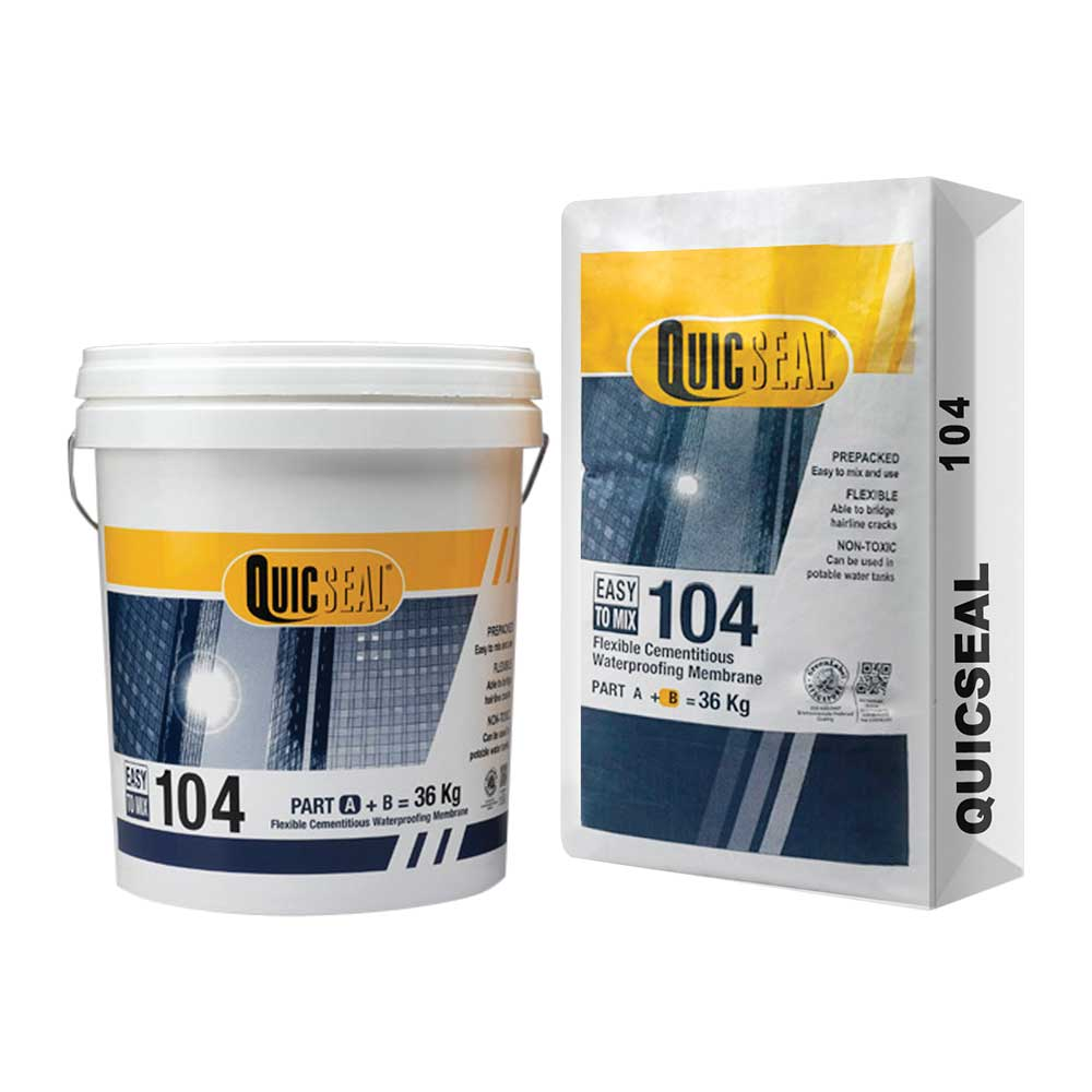 QUICSEAL 104 Flexible Cementitious Waterproofing Membrane